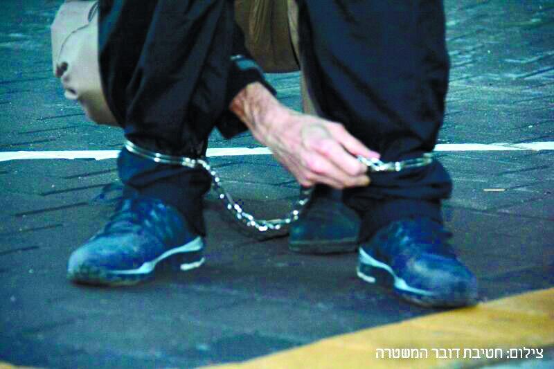 מעצר (אילוסטרציה), צילום: דוברות המשטרה