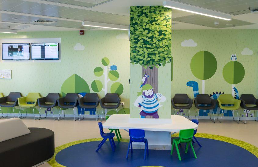 המרכז לרפואת ילדים בבית החולים באשדוד. צלם: עודד קרני