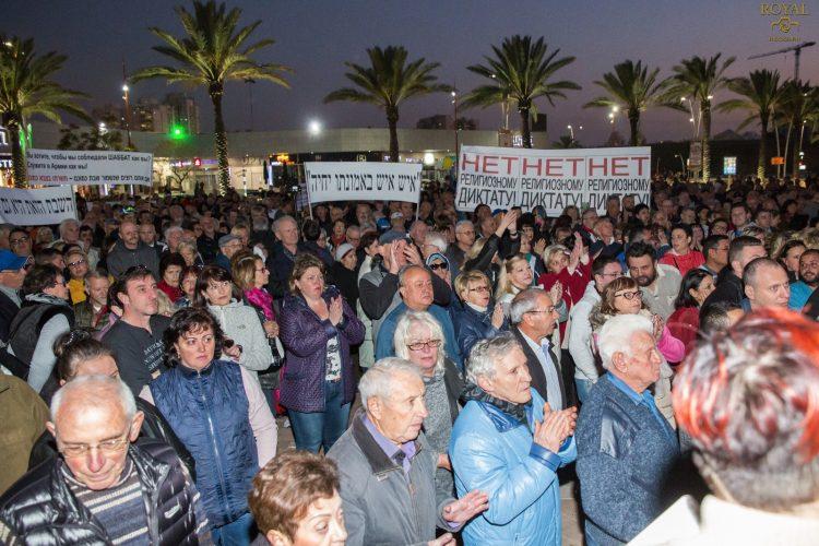 מחאת השבת ינואר 2018: ההפגנה הראשונה. צילום: דניס קריביצקי, ROYAL PHOTO