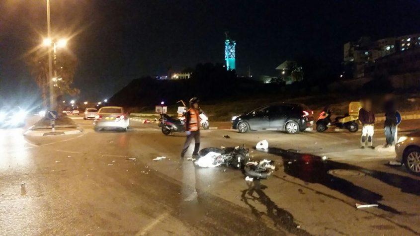 פגע וברח רוכב אופנוע נפצע קשה