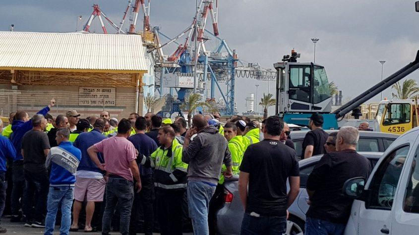 עובדי נמל מתעמתים עם הוועד: רוצים את אלון חסן בחזרה