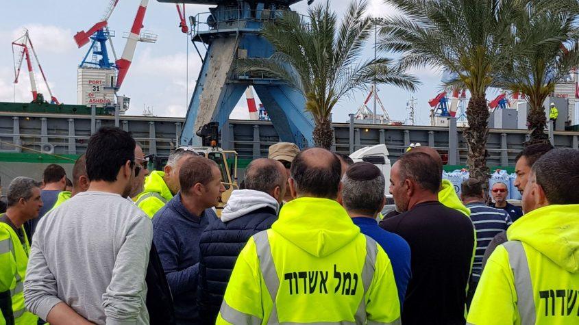 עובדי נמל מתעמתים השבוע עם הוועד: רוצים את אלון חסן בחזרה