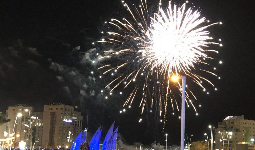 מופע הזיקוקים ערב יום העצמאות. צילום: שמואל דוד