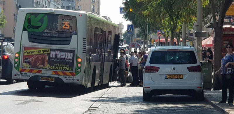 חניית אוטובוסים. קרדיט: דוברות העירייה