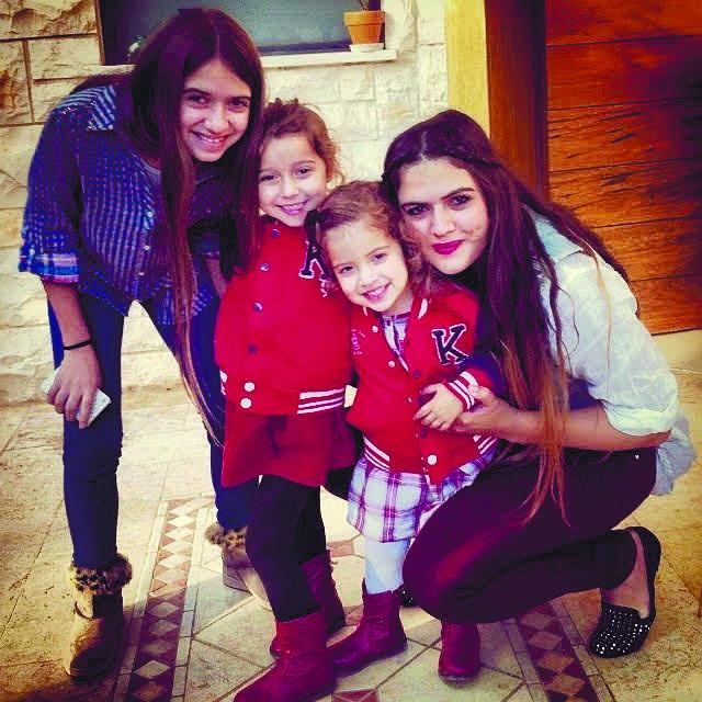 הדס עם אחיותיה: שקד, נטע וגפן