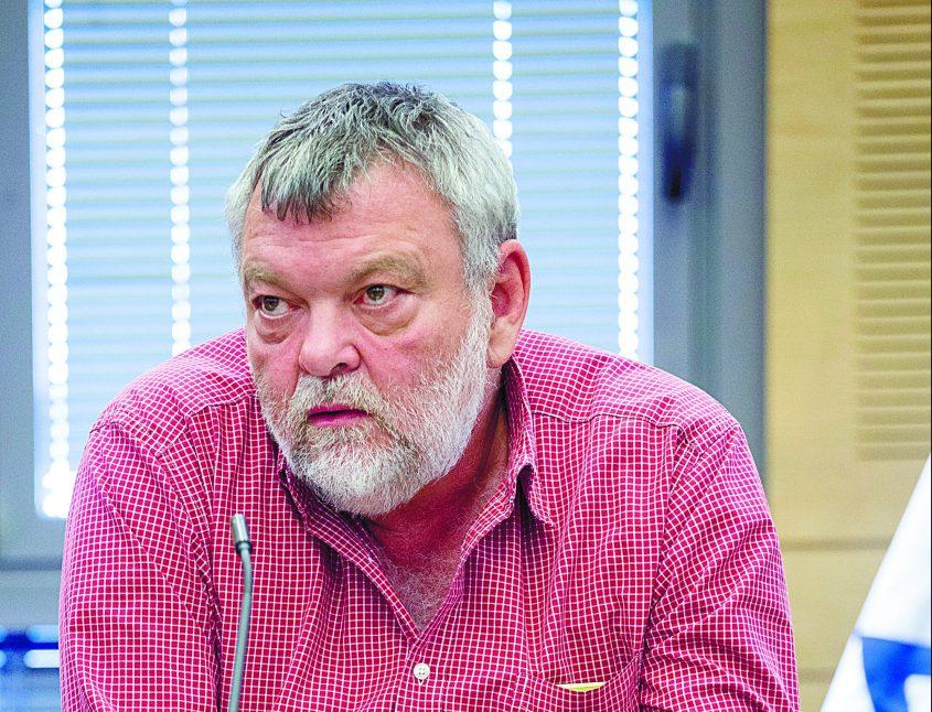 גילאון בכנס של אירגונים חברתיים נגד התקציב, בחודש שעבר. צילום: אוליבייה פיטוסי