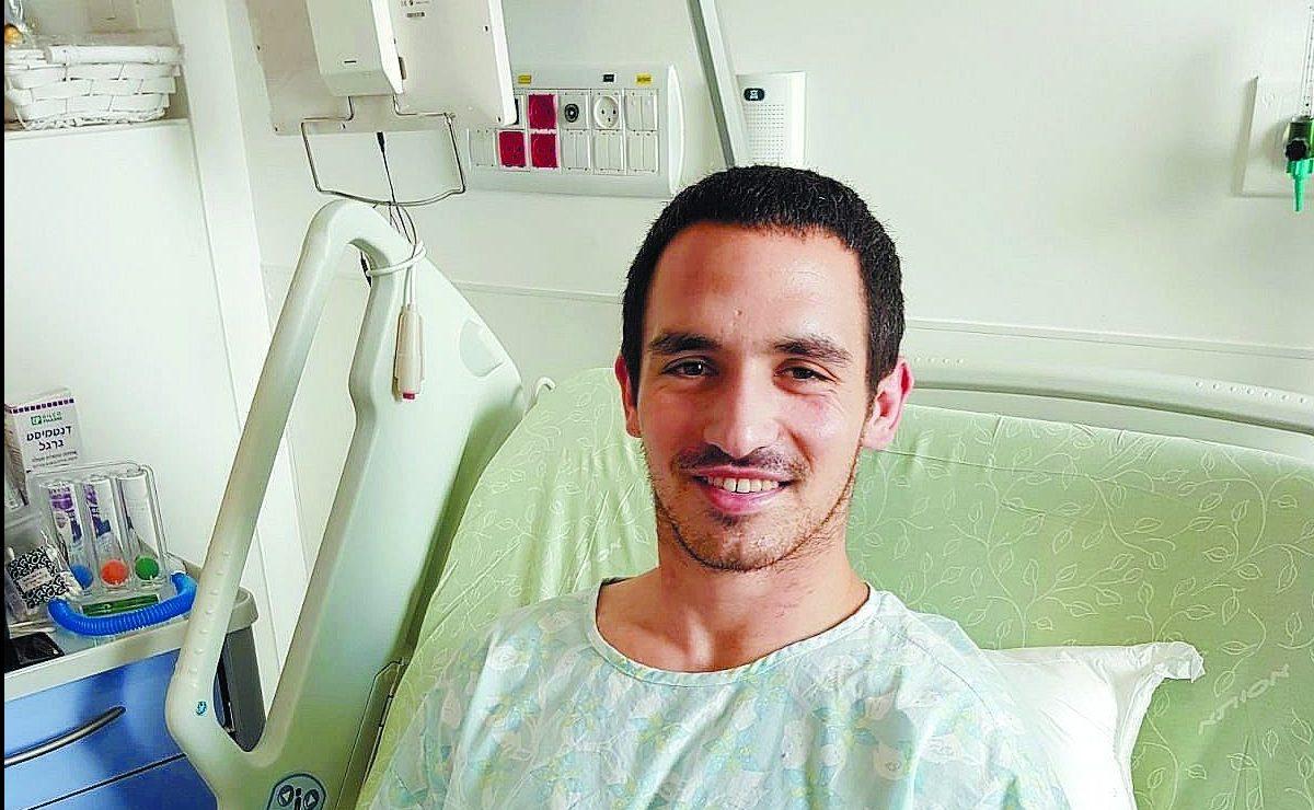 פרידמן השבוע, משתקם במחלקה הארותופדית בבית החולים אסותא אשדוד. התמונה באדיבות המשפחה