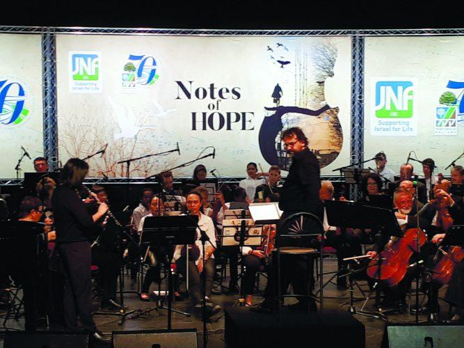 המנצח פרנצ'סקו לוטורו והתזמורת הסימפונית אשדוד בחזרה. צילום: דור גפני