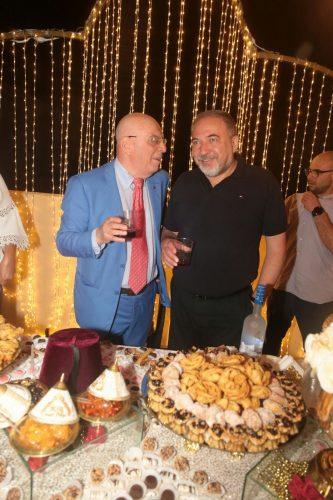אביגדור ליברמן ושמעון כצנלסון במימונה באשדוד