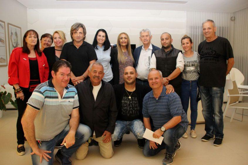 גלבר, צילקר ופעיליהם. צילום: שוקי אלישע