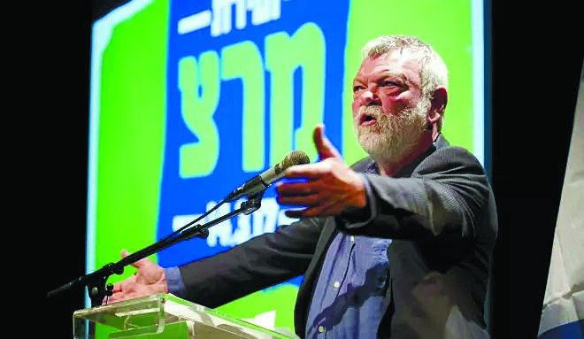 גילאון בוועידת מרצ בתל-אביב. צילום: דודו בכר