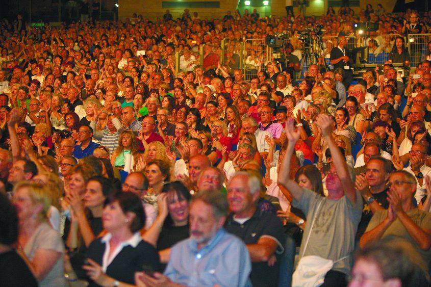 קהל בפסטיבל מדיטרנה. צילום: פוטו דוד אסייג