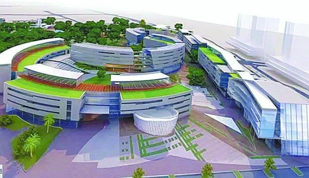 הדמיית מבנה הקמפוס - כנפו קלימור אדריכלים