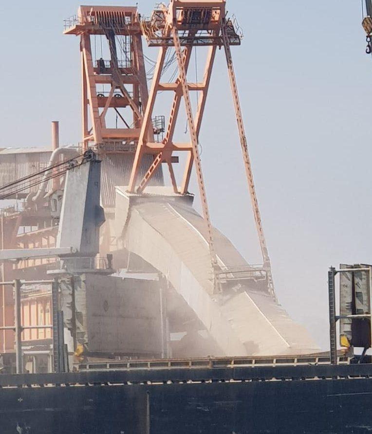 מסוף התפזורות של חברת כי״ל בנמל. קרדיט: תקשורת נמל אשדוד