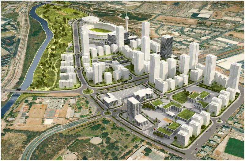 הדמיית רובע פארק לכיש. קרדיט - ארי כהן אדריכלים, רשות מקרקעי ישראל.