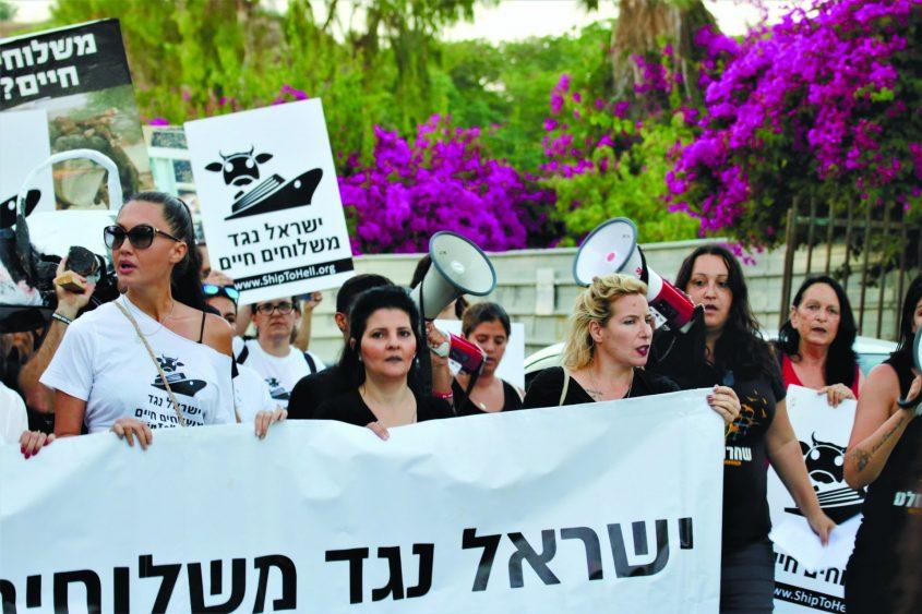 במצעד באשדוד עם הזמרת אתי לוי וטל גלבוע. צילום: ישראל נגד משלוחים חיים