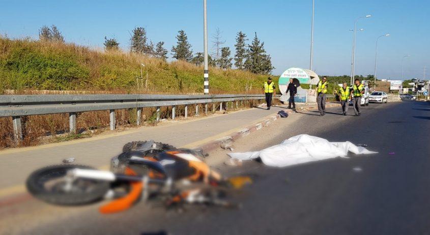 זירת התאונה הבוקר. צילום: דוברות המשטרה