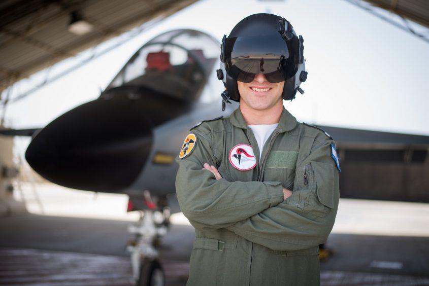 """טייס קרב חדש, סגן א' מאשדוד. צילום: דובר צה""""ל"""
