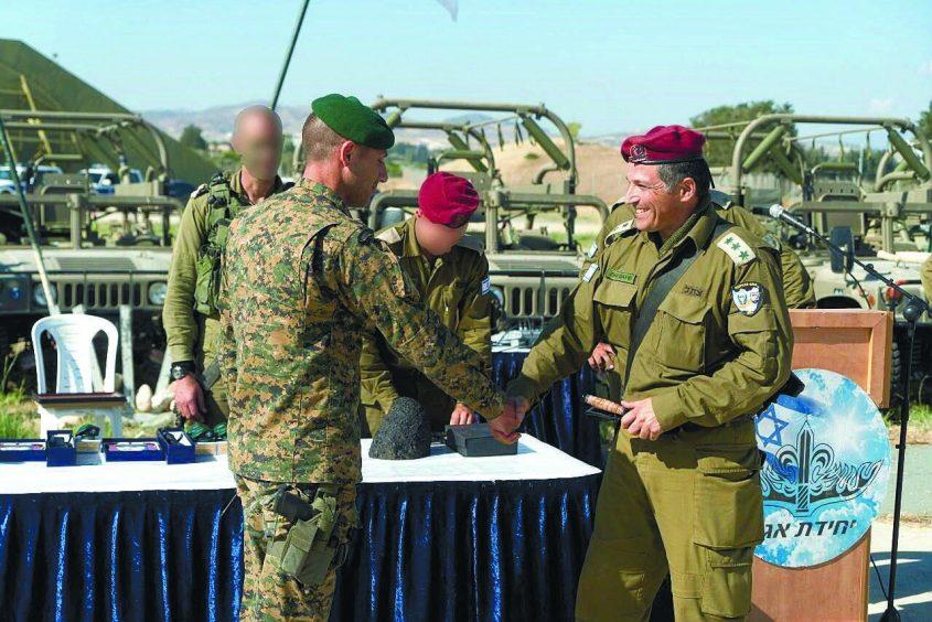 """דוד זיני, כאן בדרגת אל""""מ, כיום תא""""ל. צילום: דובר צה""""ל"""
