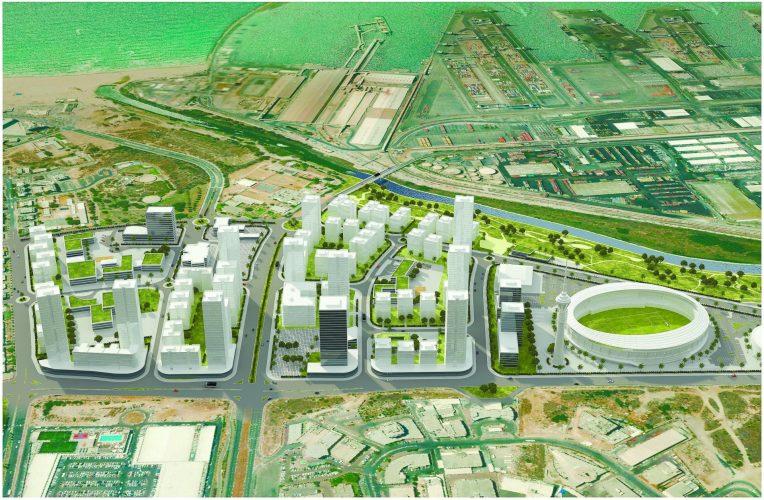 הדמייה: רובע (קריית) פארק לכיש אשדוד - ארי כהן אדריכלים, רשות מקרקעי ישראל
