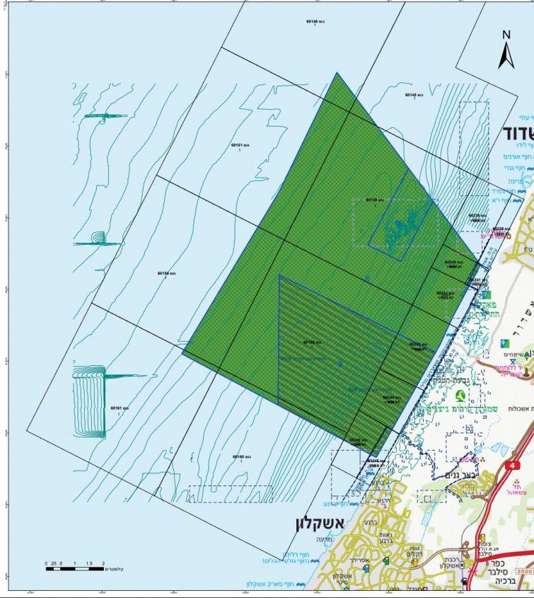 מפת השמורה הימית המורחבת - אבטח. באדיבות רשות הטבע והגנים