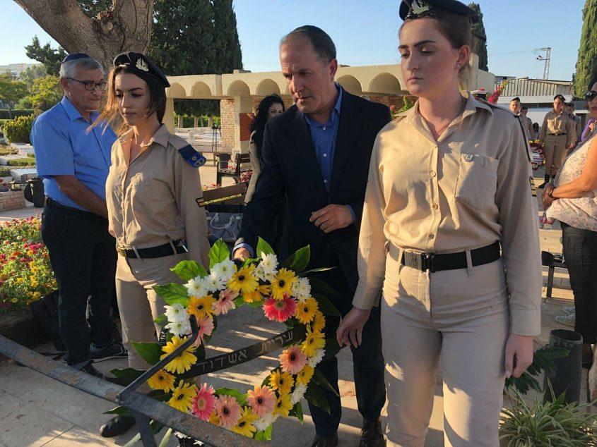 """ראש העיר ד""""ר לסרי בטקס זכרון לחללי יום כיפור"""
