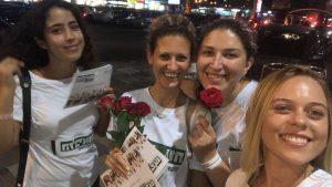 לביאות מחלקות פרחים, צילום מימין לשמאל: ניקול קולופייב, דיאנה נמולקין, שחר שריקי, גל גיכטמן