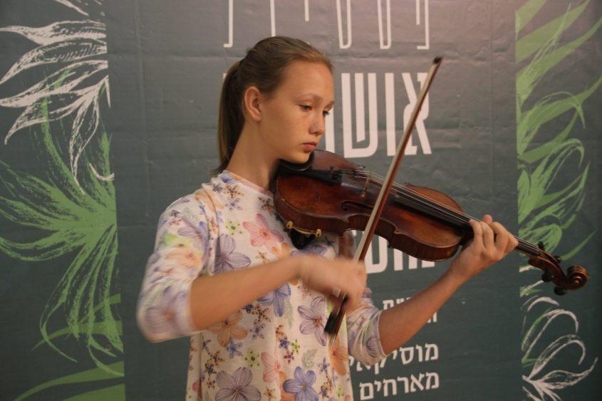 הכנרית ירוסלבה בפסטיבל אושפיזין מוזיקלי. צילום: חנבו תקשורת