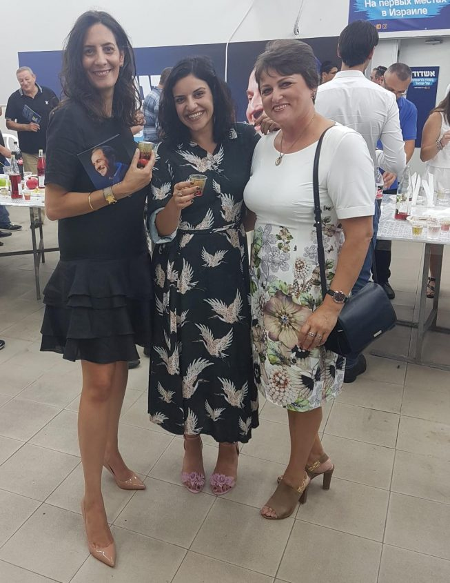 """שלוש מהנשים ברשימת """"אשדוד בתנופה"""": סבטלנה רדצ'ינקו (מס' 5), חן בוקר (6) וטאלי קריאף (4)"""