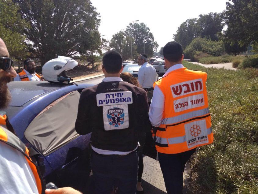 מקום התאונה, צילום: דוברות איחוד הצלה