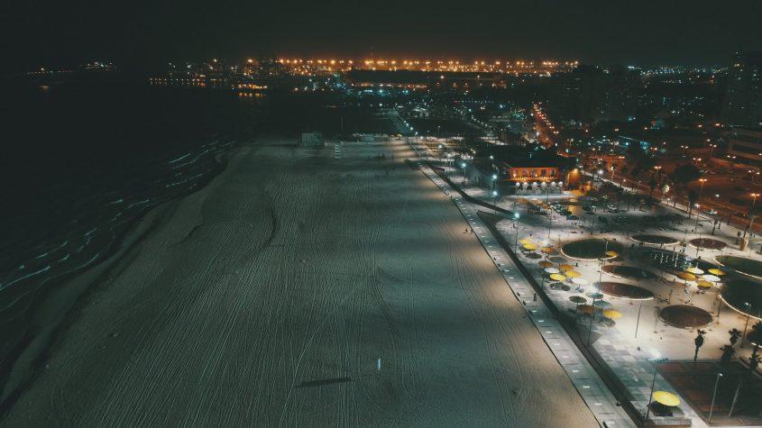 ככה זה נראה בלילה. צילום: מייק אדרי