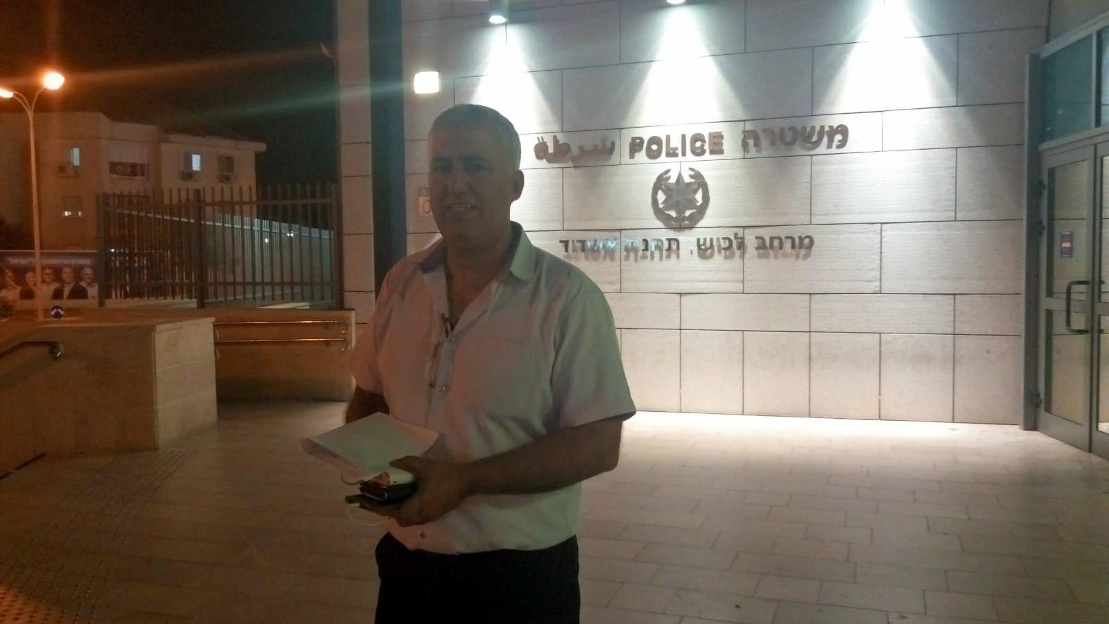 לחמני הגיע לתחנת המשטרה