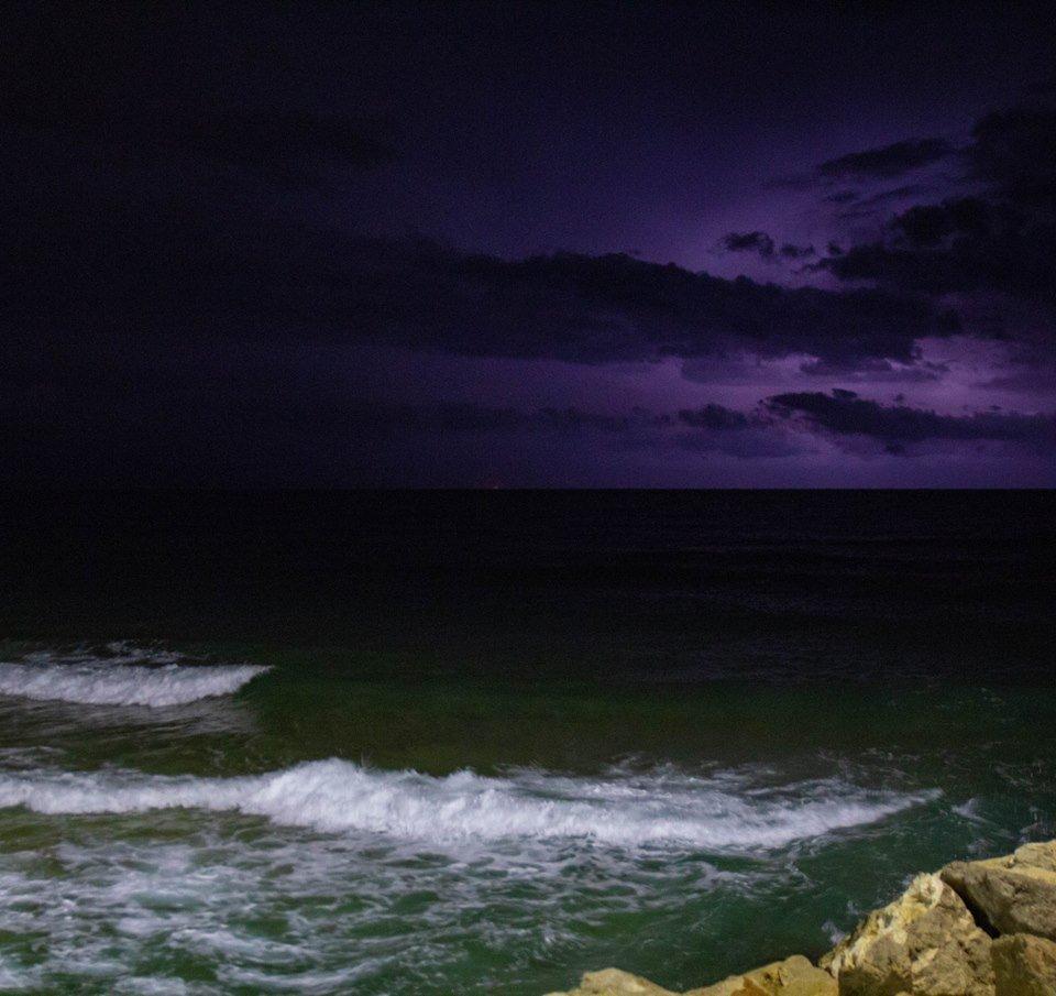 אשדוד וחוף הים אחרי הגשם צילום: גרישה חוטין ואיליה קובלנוב