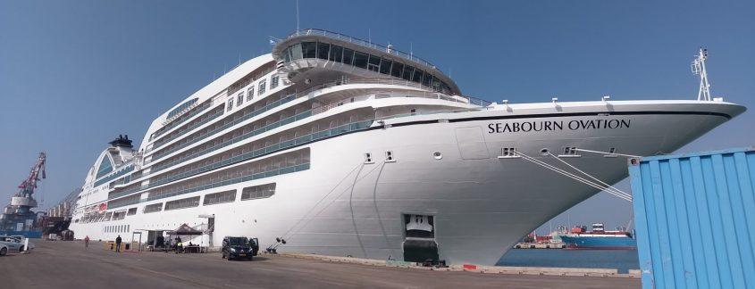 ספינת התענוגות Seaborn Ovation בנמל אשדוד. צילום: משה ביטון