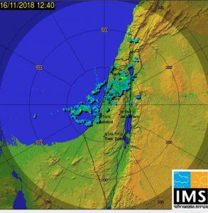 """המבול בדרך: מכ""""ם גשם של השירות המטאורולוגי"""