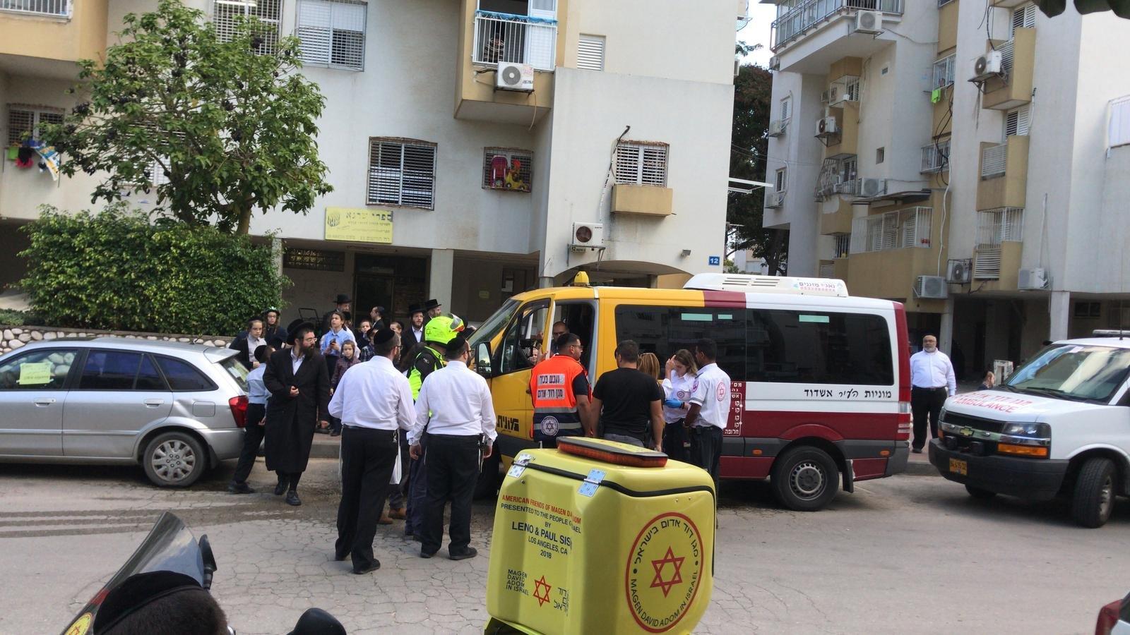 מונית שרות טיפול צילום: דוברות איחוד הצלה.