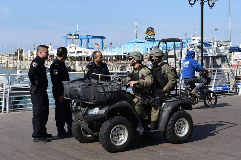 הערכות מוגברת באשקלון. צילום: דוברות משטרת ישראל