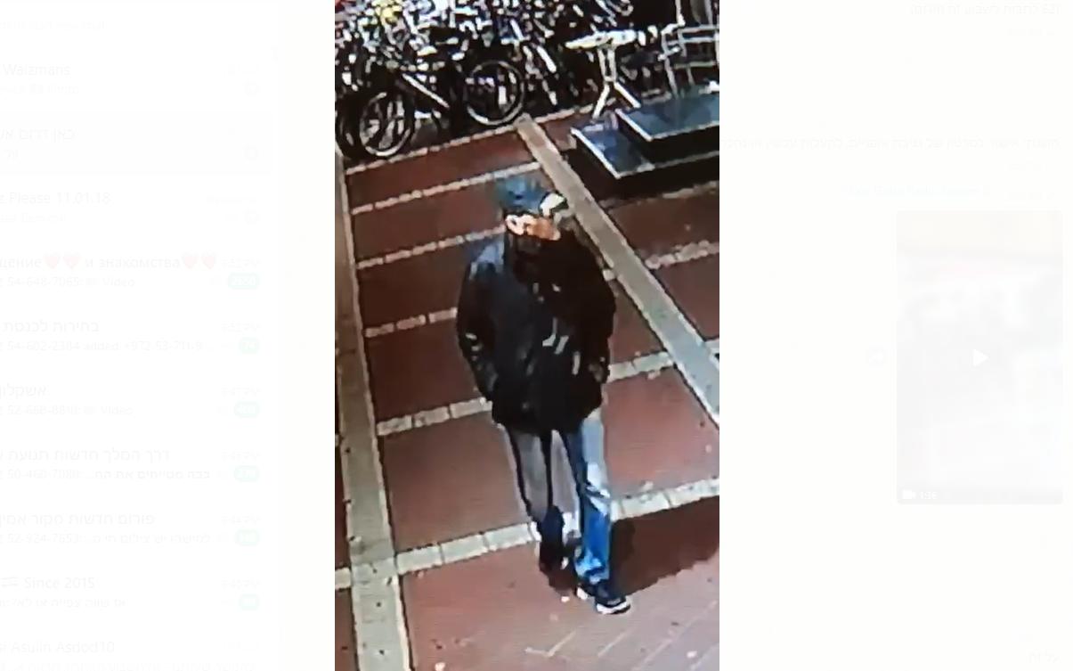 גנב אופניים בפעולה ברובע ח' צילומסך מתוך סרטון של וולד רזניקוב