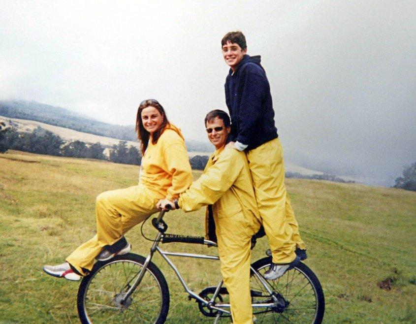 """רונה, אילן ואסף רמון ז""""ל. צילום: -אי. אפ. פי"""
