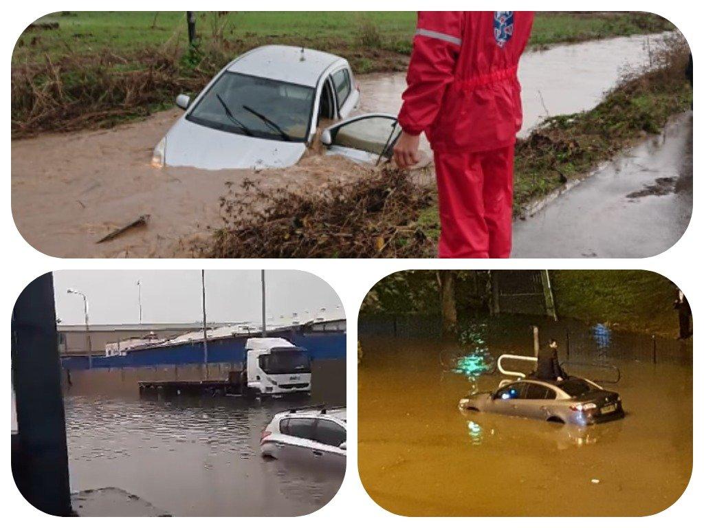 זירת רכב שנפל לתעלה סמוך לגן יבנה ללא נפגעים, צילום: דוברות איחוד הצלה