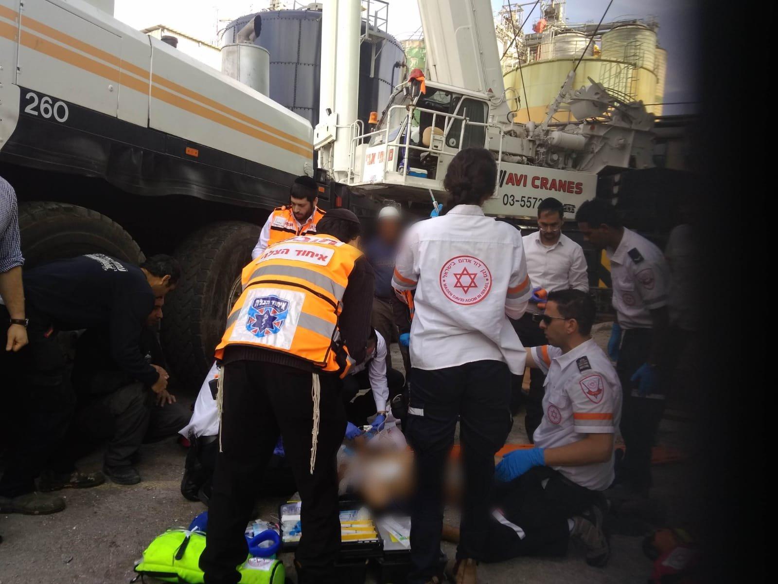 תאונת עבודה: נפל מגובה 12 מטרים. צילום: דוברות איחוד הצלה