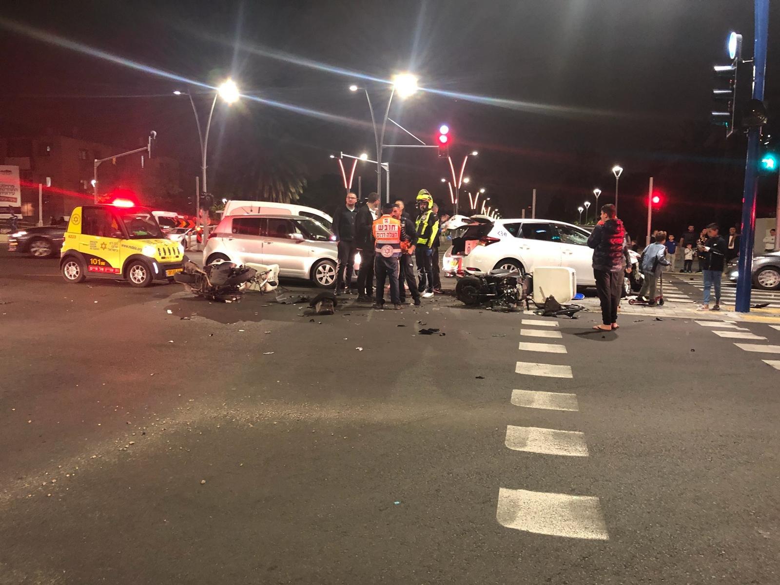 תאונת דרכים צילום: מדא לכיש