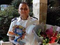 הפראמדיק גאורגי גוליאק בטקס הוקרה איש השנה. באדיבות גאורגי גוליאק