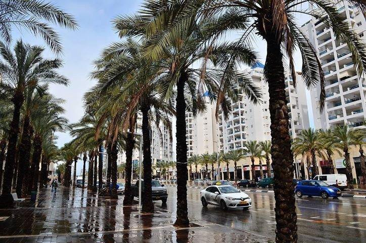 אשדוד בגשם צילום: פטר טלר