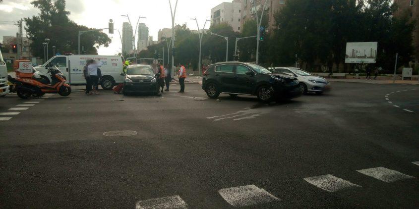 רחוב הרצל תאונת דרכים צילום: איחוד הצלה