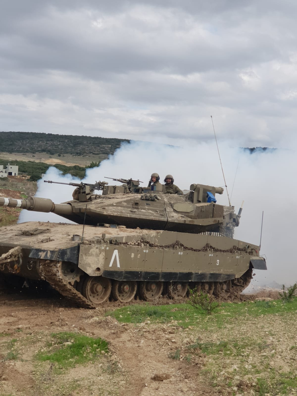 """טנק בפעולה. צילום: דובר צה""""ל"""
