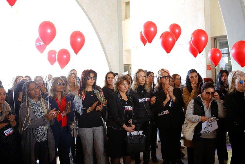 מחאת הנשים באשדוד 'אני אישה אני שובתת'. צילום: פבל