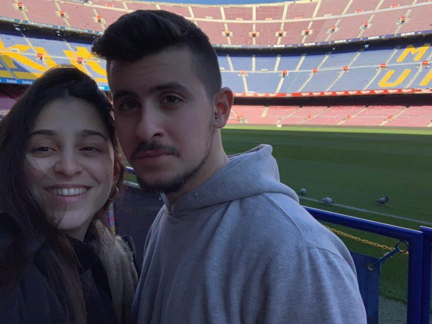 יופי של מתנת יומולדת, ירדן לאור וסתיו בונדר באצטדיון בברצלונה