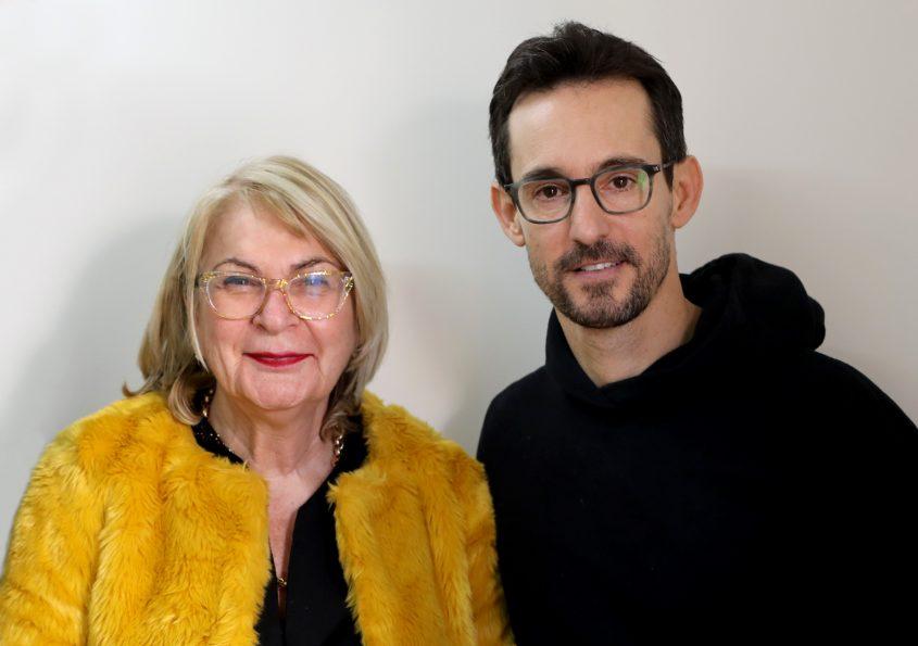 עברי לידר ונשיאת המכללה פרופסור שוש ארד צילום: יפעת גולן