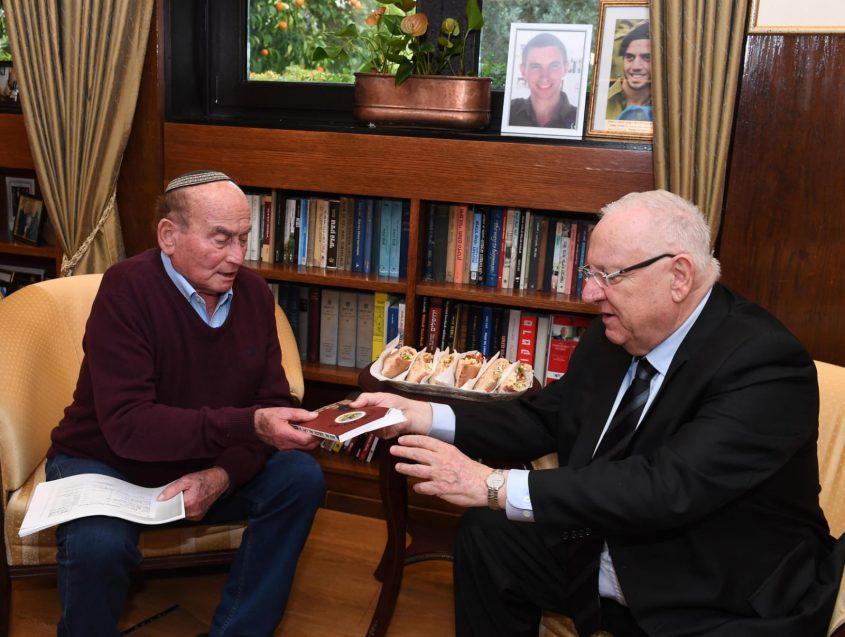 """דוגו לייטנר מתארח אצל הנשיא רבלין. צילום: מארק ניימן לע""""מ"""